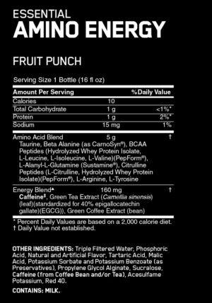 OPTIMUM NUTRITION AMINO ENERGY RTD – ORANGE BLAST