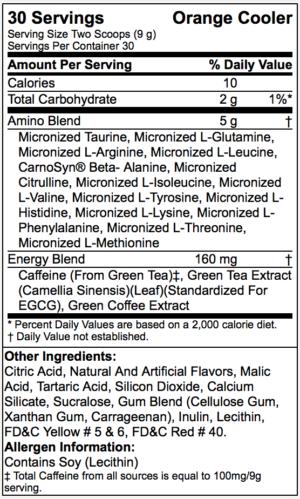 OPTIMUM NUTRITION ESSENTIAL AMINO ENERGY – ORANGE COOLER 30 SERVINGS