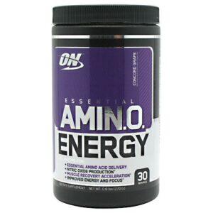 OPTIMUM NUTRITION ESSENTIAL AMINO ENERGY – CONCORD GRAPE 30 SERVINGS