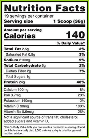 OPTIMUM NUTRITION GOLD STANDARD 100% PLANT PROTEIN – VANILLA