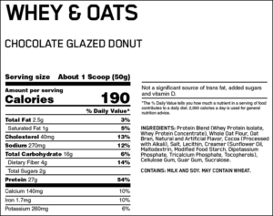 OPTIMUM NUTRITION WHEY & OATS – CHOCOLATE GLAZED DONUT